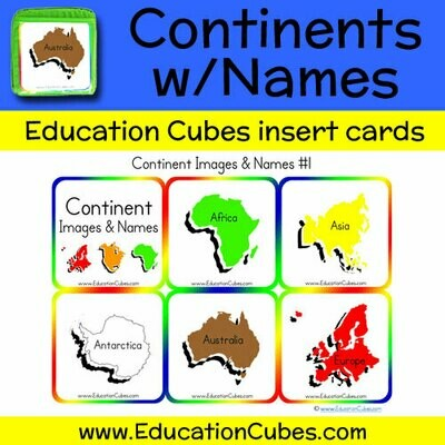 Continents w/Names