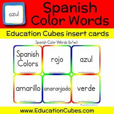 Spanish Color Words (b/w)