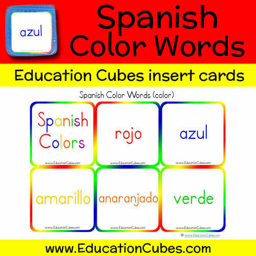 Spanish Color Words (color)