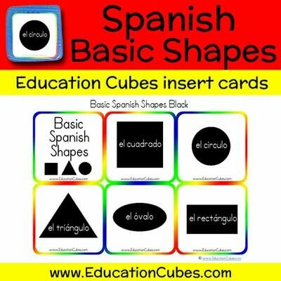 Spanish Basic Shapes (black)