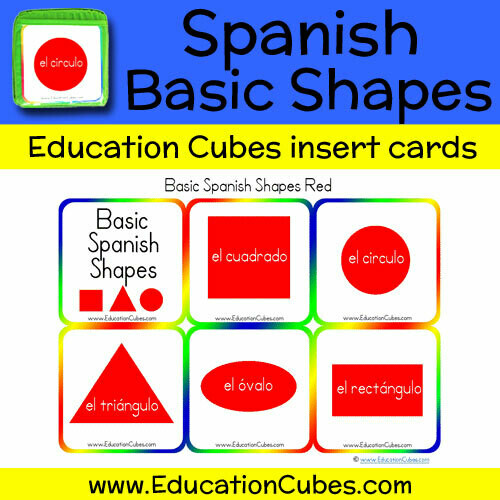 Spanish Basic Shapes (red)