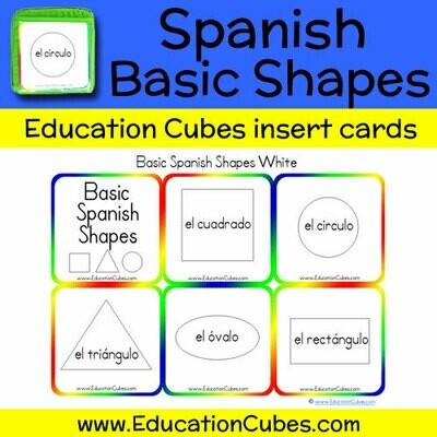 Spanish Basic Shapes (white)
