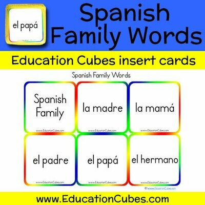 Spanish Family Words