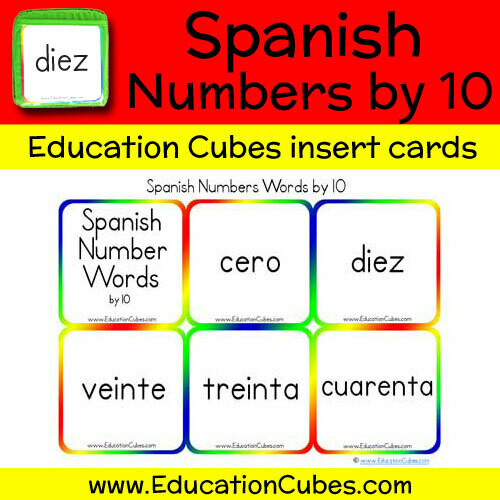 Spanish Numbers by 10