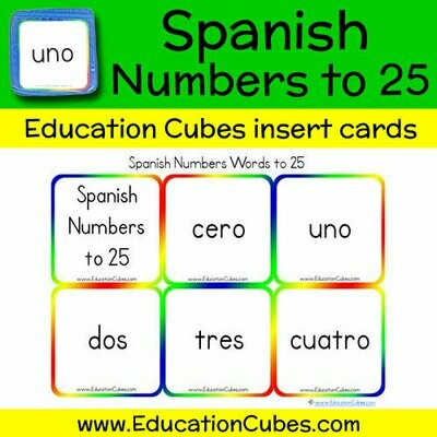 Spanish Numbers to 25