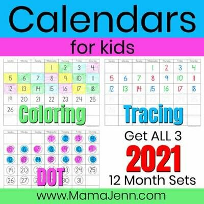 2021 Calendars for Kids