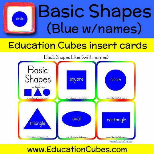 Basic Shapes Blue (w/names)