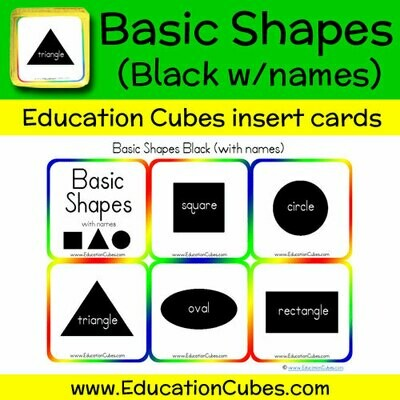 Basic Shapes Black (w/names)