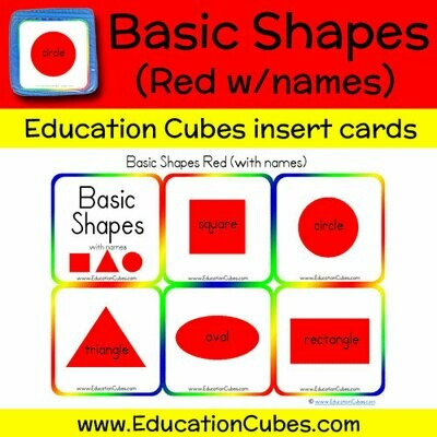 Basic Shapes Red (w/names)