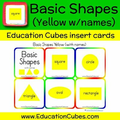 Basic Shapes Yellow (w/names)