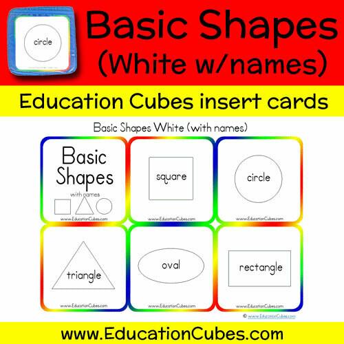 Basic Shapes White (w/names)