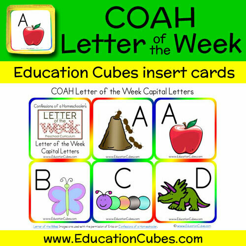 COAH Letter of the Week Alphabet (Uppercase Letters)