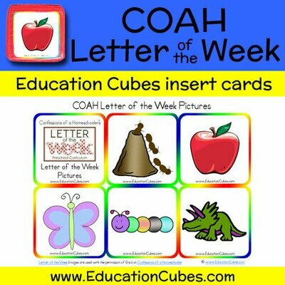 COAH Letter of the Week Alphabet (Pictures)