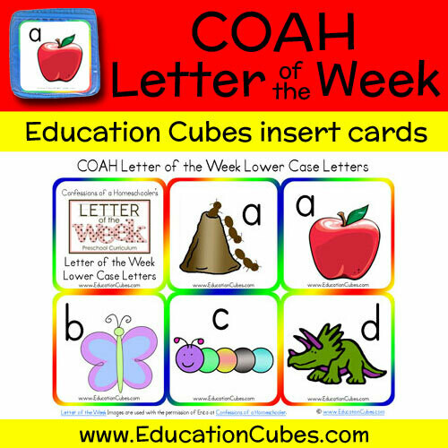 COAH Letter of the Week Alphabet (Lowercase Letters)