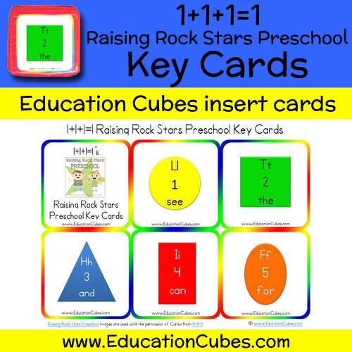 1+1+1=1 Raising Rock Stars Preschool (Key Cards)