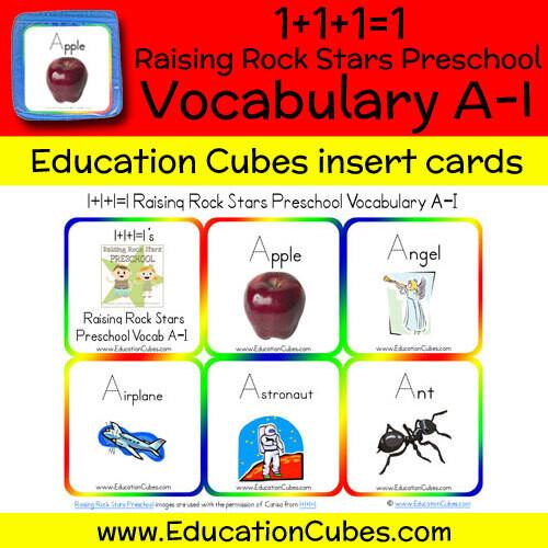 1+1+1=1 Raising Rock Stars Preschool (Vocabulary A-I)