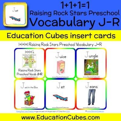 1+1+1=1 Raising Rock Stars Preschool (Vocabulary J-R)