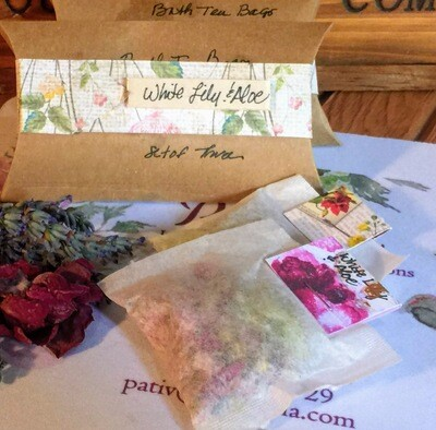 White Lily Bath Tea Bags Set of Three