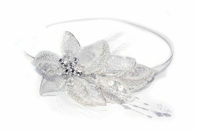Lily Bridal Side Head Piece