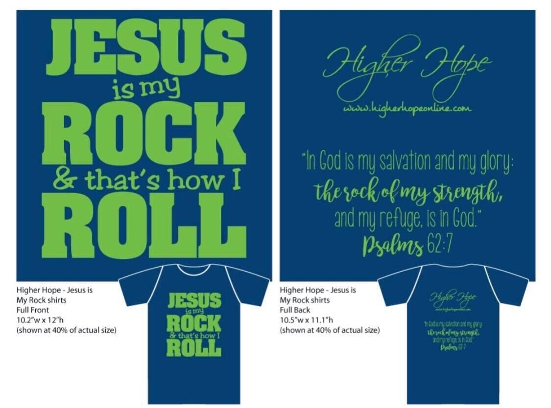"""""""Jesus Is My Rock and That's How I Roll"""" T-Shirt"""
