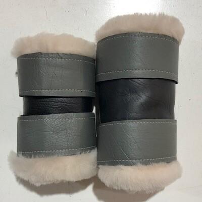 Sheepskin Vinyl Show Boots (Small Pony)