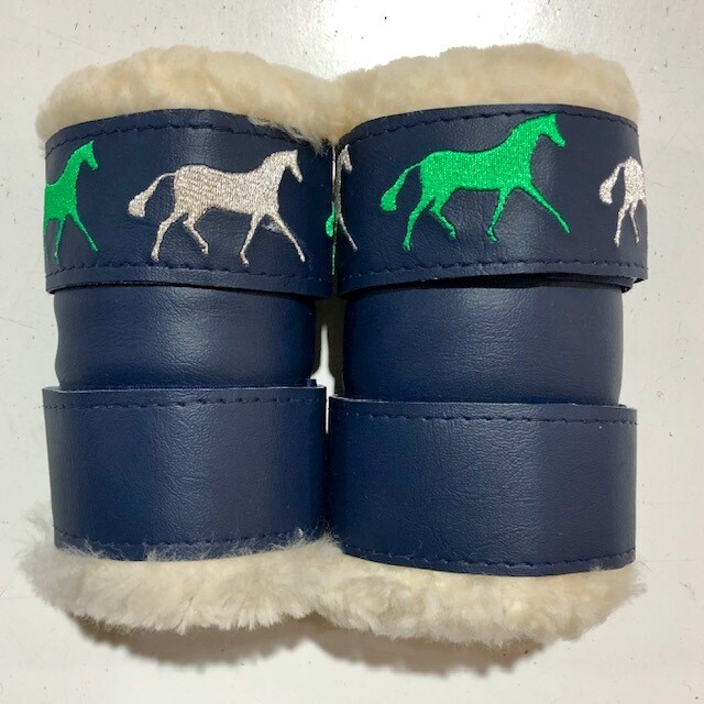 Sheepskin Vinyl Show Boots (Small Pony)