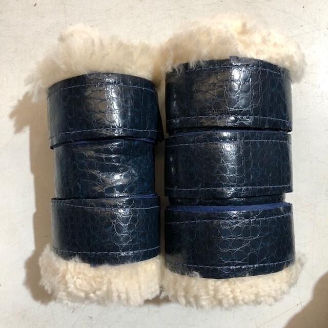 Sheepskin/Vinyl Show Boots (Pony)