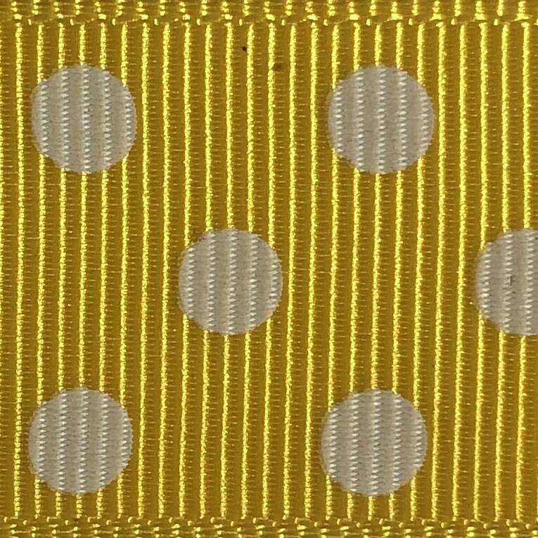 Gold/White Dots