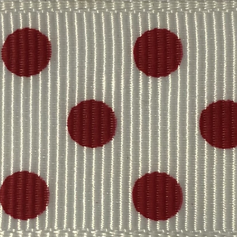 White/Red Dots