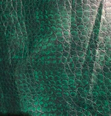 Bottle Green Croc Vinyl