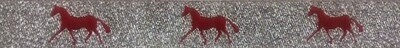 Horse Binding- Silver/Red Horse