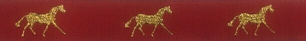 Horse Binding- Red/GoldHorse