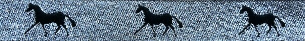 Horse Binding- Silver/ Black Horse
