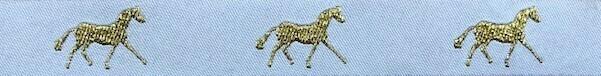 Horse Binding- White/ Gold Horse