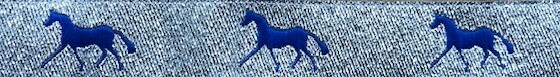 Horse Binding- Silver/ Royal Horse