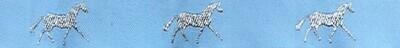 Horse Binding- Sky/Silver Horse