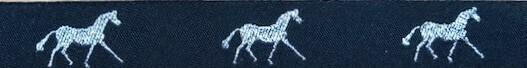 Horse Binding- Black/ Silver Horse