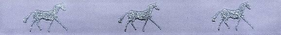 Horse Binding- White/Silver Horse