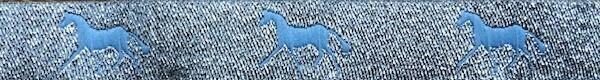 Horse Binding- Silver/Sky Horse