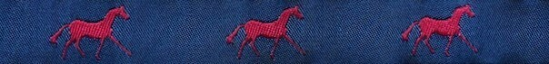 Horse Binding- Navy/Red Horse