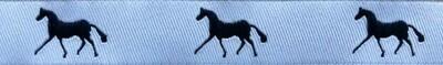 Horse Binding- White/Navy Horse