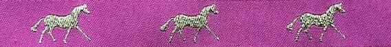 Horse Binding-Pink/Gold Horse