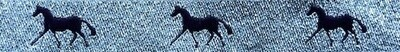 Horse Binding- Silver/ Purple Horse