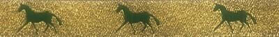 Horse Binding- Gold/ Green Horse