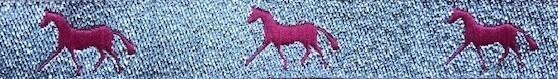Horse Binding- Silver/Pink Horse