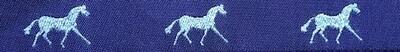 Horse Binding- Purple/ Silver Horse