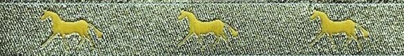 Horse Binding- Metallic Gold/ Gold Horse