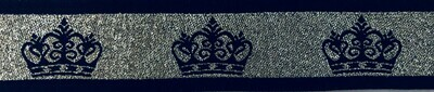 Silver/Navy Crown