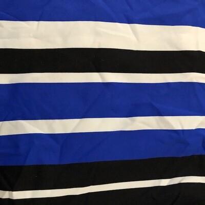 Royal/Black/White Stripe