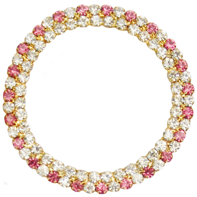 50mm Pink Double Row Ring